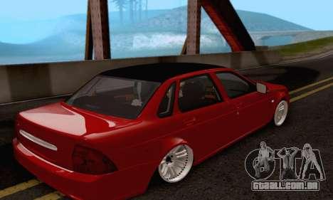 LADA 2170 para GTA San Andreas traseira esquerda vista