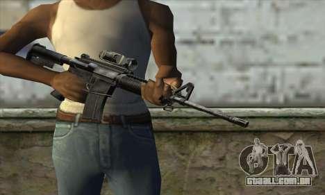 M4A1 Carbine Assault Rifle para GTA San Andreas terceira tela