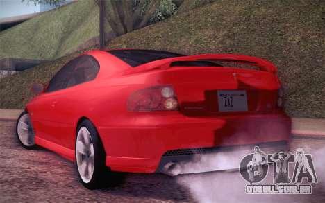 Pontiac GTO 2005 para GTA San Andreas vista direita
