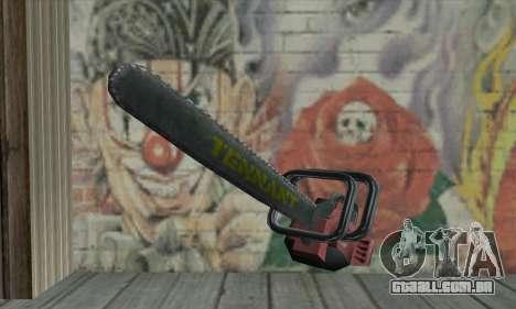 Caça ao homem Kettensäge para GTA San Andreas