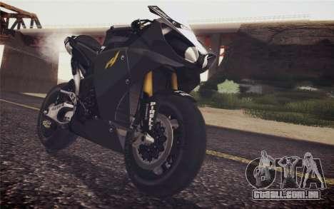 Yamaha YZF R1 2012 Black para GTA San Andreas vista traseira