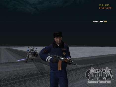 Pak DPS em um formato de inverno para GTA San Andreas décimo tela
