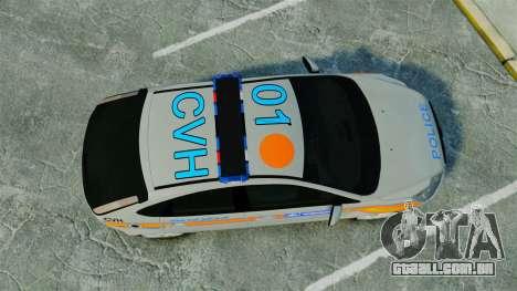 Ford Focus Metropolitan Police [ELS] para GTA 4 vista direita