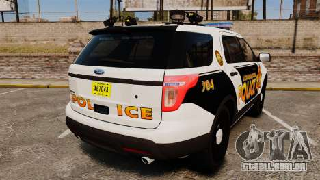 Ford Explorer 2013 LCPD [ELS] v1.5X para GTA 4 traseira esquerda vista