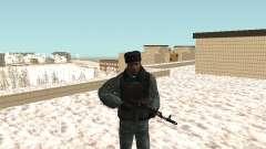 O OMON motim de policiais no inverno uniforme