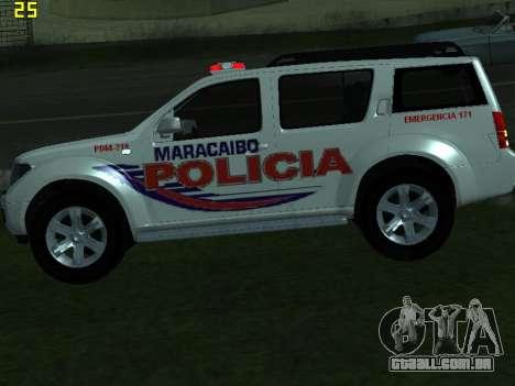 Nissan Pathfinder Polimaracaibo para GTA San Andreas vista traseira