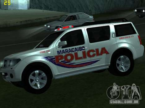Nissan Pathfinder Polimaracaibo para GTA San Andreas vista direita