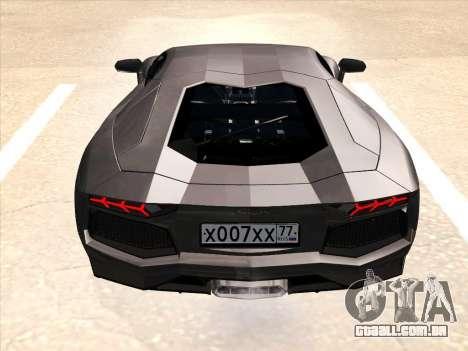 Lamborghini Aventador LP700-4 2013 para as rodas de GTA San Andreas