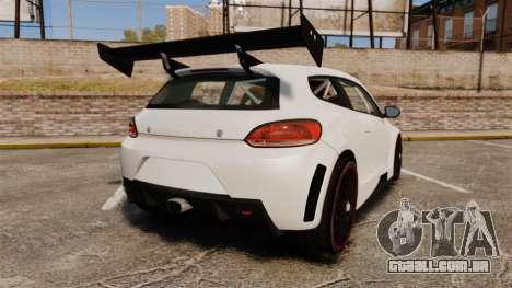Volkswagen Scirocco para GTA 4 traseira esquerda vista