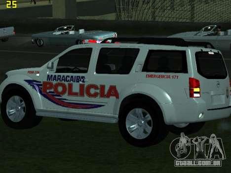 Nissan Pathfinder Polimaracaibo para GTA San Andreas vista interior