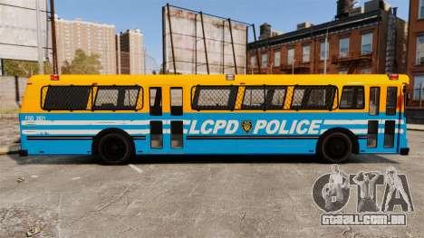 Brute Bus LCPD [ELS] v2.0 para GTA 4 esquerda vista