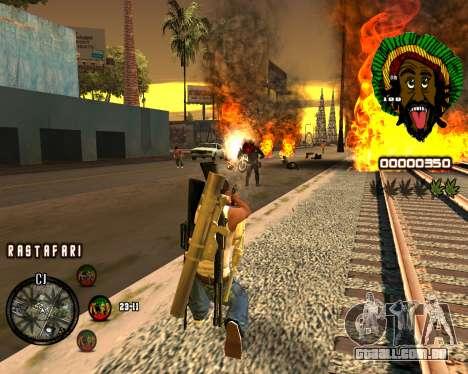 C-HUD Rastafari para GTA San Andreas terceira tela