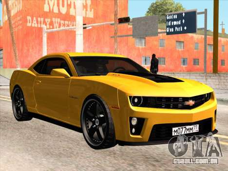 Chevrolet Camaro ZL1 2011 para GTA San Andreas vista traseira