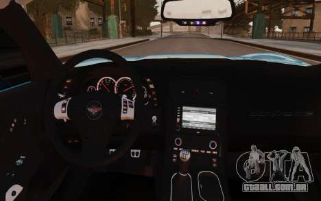 Chevrolet Corvette Grand Sport 2010 para GTA 4 vista interior