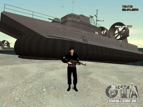 O Corpo de fuzileiros navais das forças armadas para GTA San Andreas por diante tela