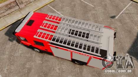 Húngaro caminhão de bombeiros [ELS] para GTA 4 vista direita