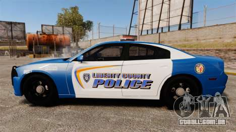 Dodge Charger 2013 Liberty County Police [ELS] para GTA 4 esquerda vista