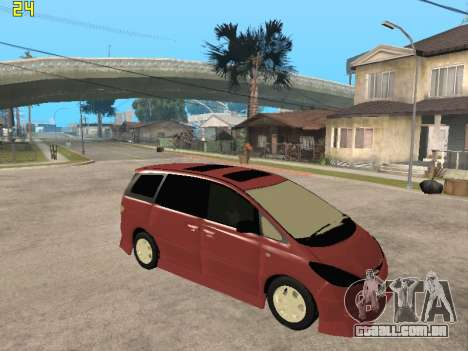 Toyota Estima Altemiss 2wd para GTA San Andreas vista direita