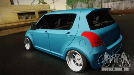 Suzuki Swift Hellaflush para GTA San Andreas vista traseira