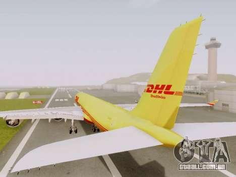 Airbus A340-600F DHL Buffalo para GTA San Andreas vista traseira