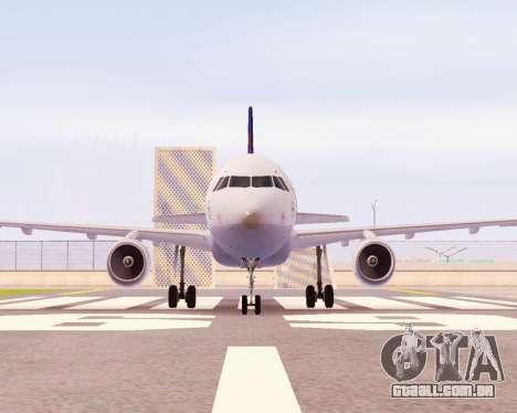 Airbus A320-200 Lufthansa para GTA San Andreas esquerda vista