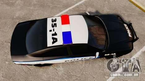 Dodge Charger 2013 Liberty City Police [ELS] para GTA 4 vista direita