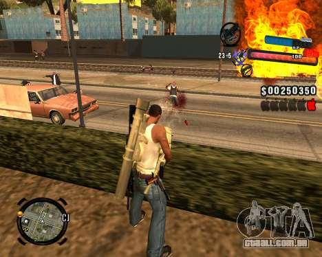 O novo C-HUD para GTA San Andreas por diante tela