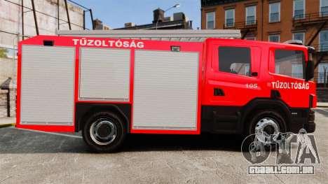 Húngaro caminhão de bombeiros [ELS] para GTA 4 esquerda vista