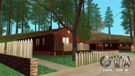 Uma casa na aldeia para GTA San Andreas por diante tela