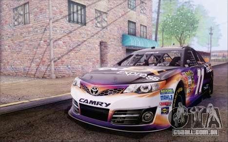 Toyota Camry NASCAR Sprint Cup 2013 para GTA San Andreas vista traseira