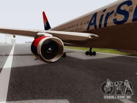 Boeing 767-300 para GTA San Andreas traseira esquerda vista