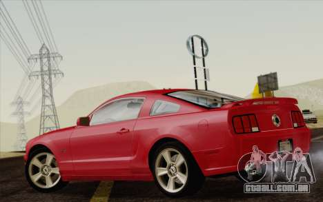 Ford Mustang GT 2005 para GTA San Andreas esquerda vista