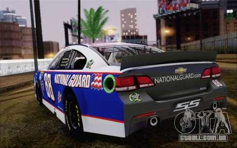 Chevrolet SS NASCAR Sprint Cup 2013 para GTA San Andreas esquerda vista