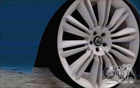 Nissan March para GTA San Andreas traseira esquerda vista