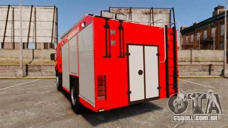 Húngaro caminhão de bombeiros [ELS] para GTA 4 traseira esquerda vista