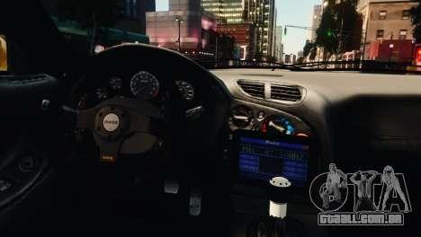 Mazda RX7 Veilside V8 para GTA 4 vista inferior