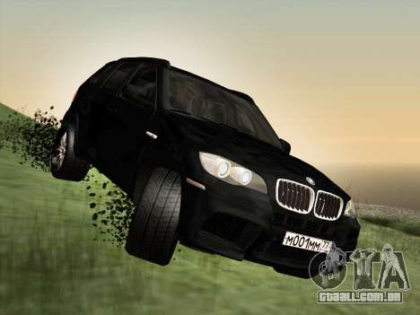BMW X5M E70 2010 para vista lateral GTA San Andreas