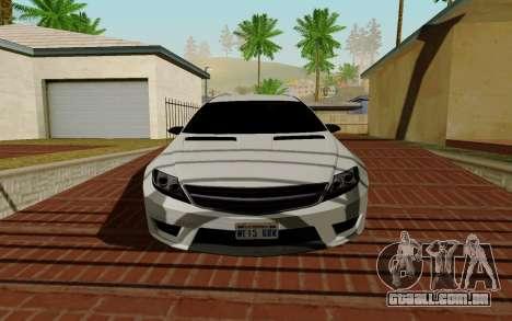 Benefactor Schwarzer para GTA San Andreas esquerda vista