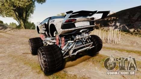 Lamborghini Aventador LP700-4 [Monster truck] para GTA 4 traseira esquerda vista