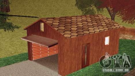 Uma casa na aldeia para GTA San Andreas terceira tela
