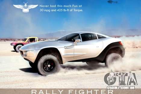 Arranque telas de Rally Fighter para GTA 4 por diante tela