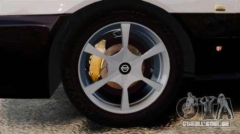 Nissan Skyline ER34 Police para GTA 4 vista de volta