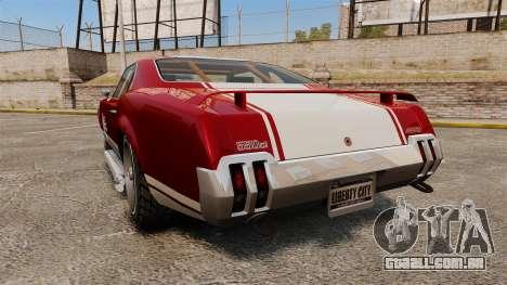Declasse SabreGT Mexican Style para GTA 4 traseira esquerda vista