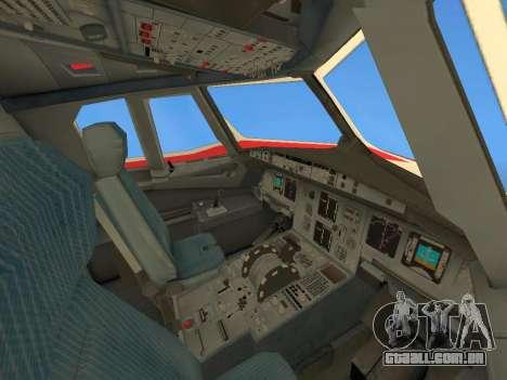 Airbus A320 Avianca Columbia para GTA San Andreas vista inferior
