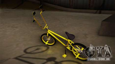 New BMX Yellow para GTA San Andreas esquerda vista