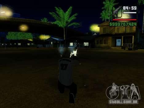 A metralhadora UZI para GTA San Andreas nono tela