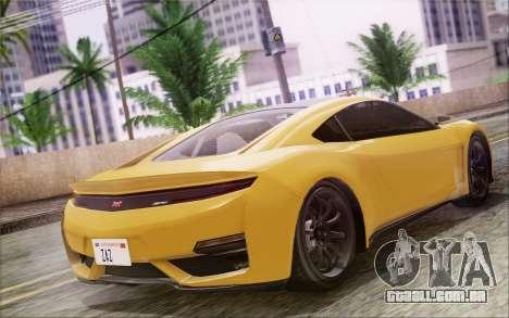 GTA V Dinka Jester IVF para GTA San Andreas traseira esquerda vista