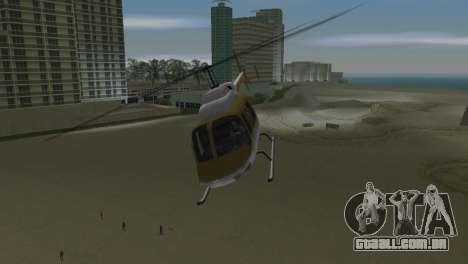 Helicóptero da polícia do GTA VCS para GTA Vice City vista traseira