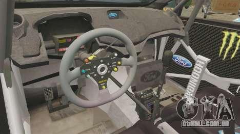 Ford Fiesta RS [Hoonigan] para GTA 4 vista de volta