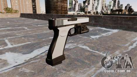 Pistola Glock De 20 Chrome para GTA 4 segundo screenshot